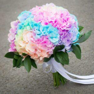 Buchet_mireasa hortensie multicolora