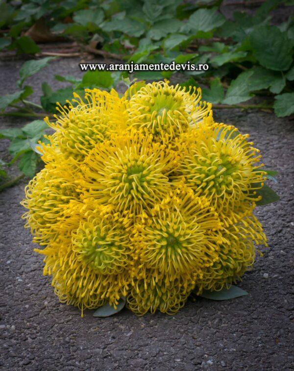 Buchet cununie flori galbene