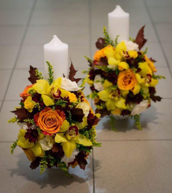 Lumanari-cununie-orhidee-si-trandafiri
