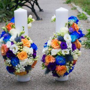Lumanari-de-nunta-multicolor