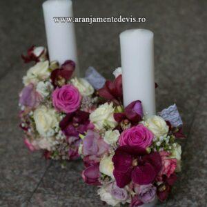 Lumanari-nunta-orhidee-vanda