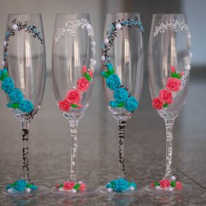 pahare-decorate-flori-fimo